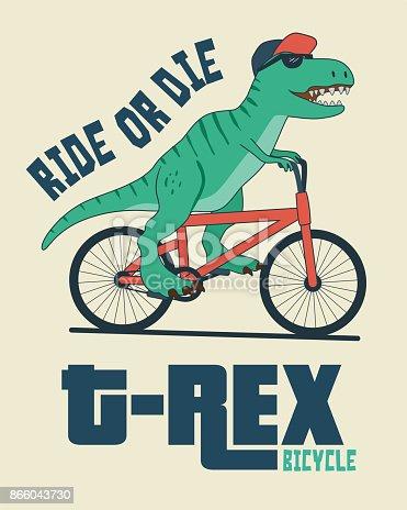 Dinosaur on Bicycle