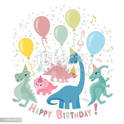 Dinosaur Party Invitation Card