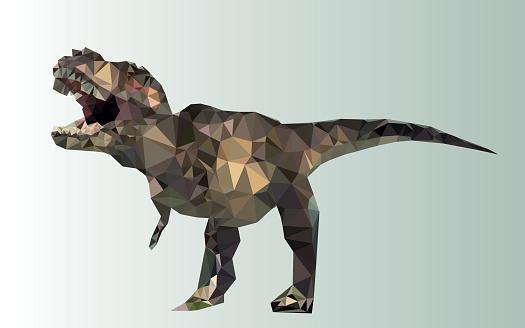 dinosaur polygonal