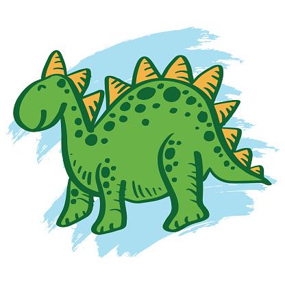 Dinosaur poster. Cute dinosaur funny monsters kids print t-shirt