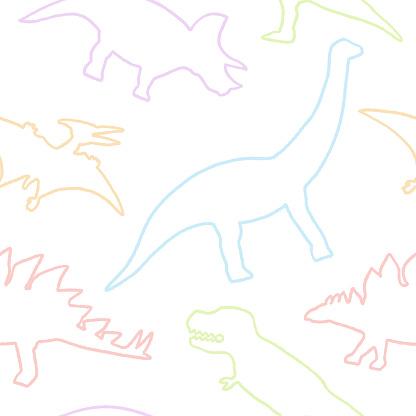 Dinosaur seamless pattern