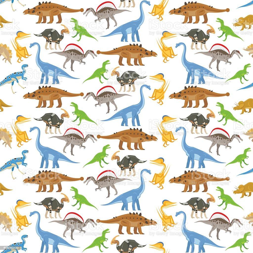 Ilustración de Patrón Sin Costuras De Dinosaurio y más banco de ...