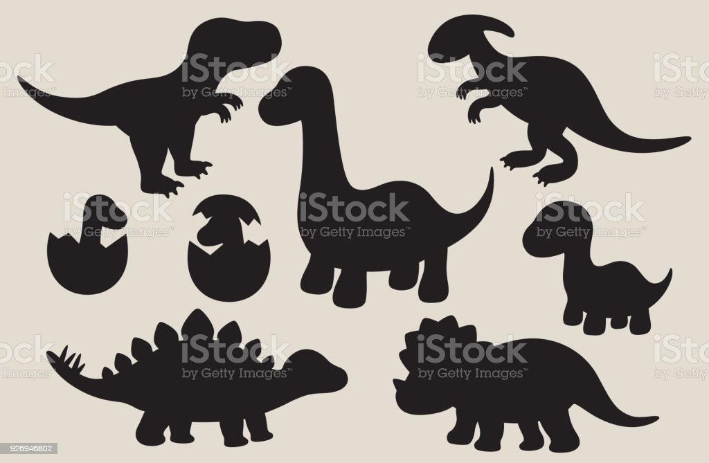 Dinosaur Silhouette Set Stock Illustration Download Image Now Istock Download the silhouette in eps, jpg, pdf, png, and svg formats. dinosaur silhouette set stock illustration download image now istock