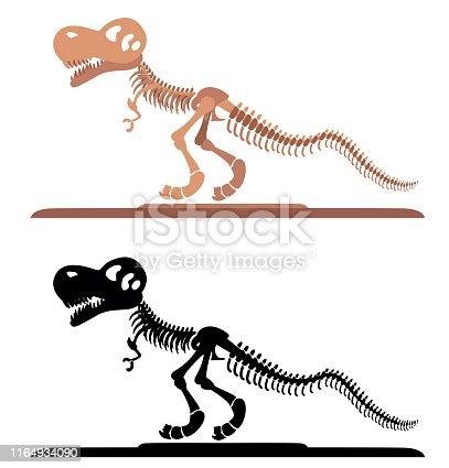 Vector Dinosaur skeleton