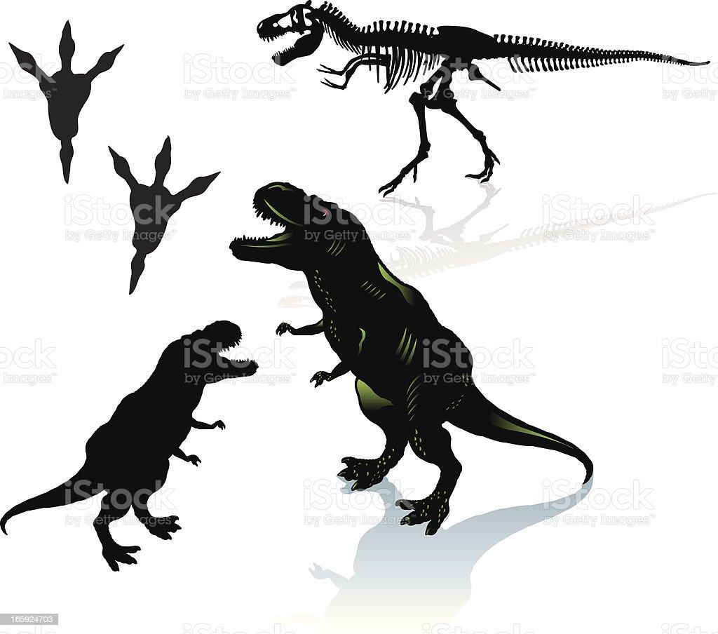 Dinosaur - Tyrannosaurus Rex royalty-free dinosaur tyrannosaurus rex stock vector art & more images of animal