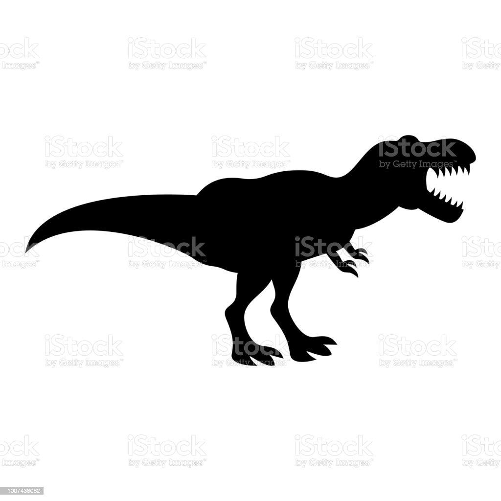 Ilustración de Dinosaurio Tiranosaurio T Rex Icono Color Negro ...