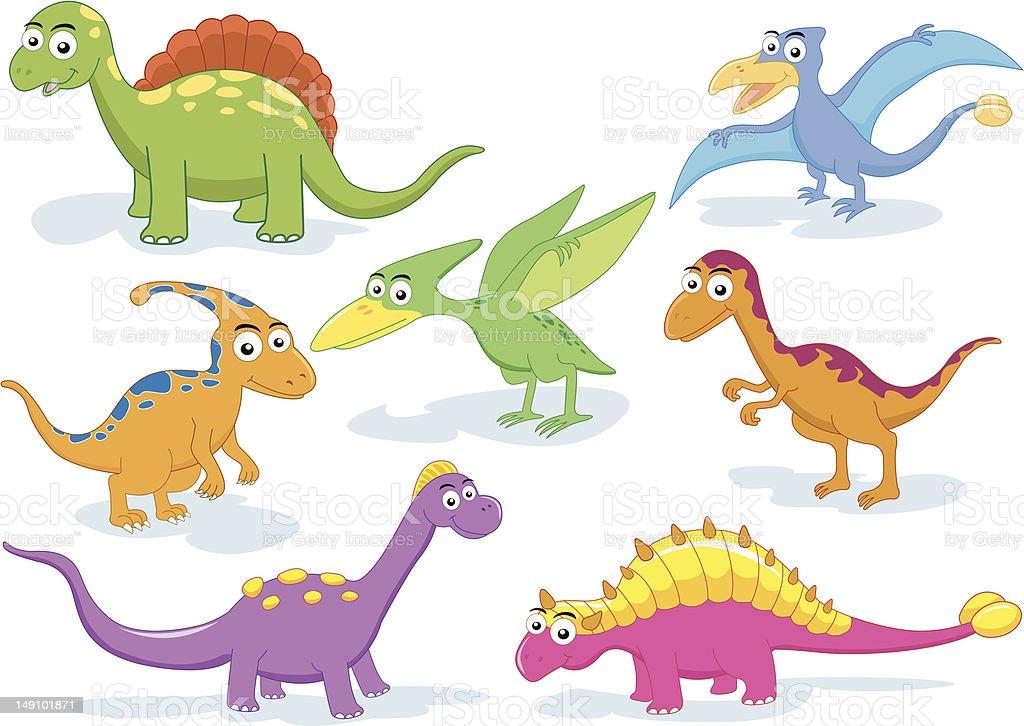 dinosaur vector set stock vector art 149101871 | istock