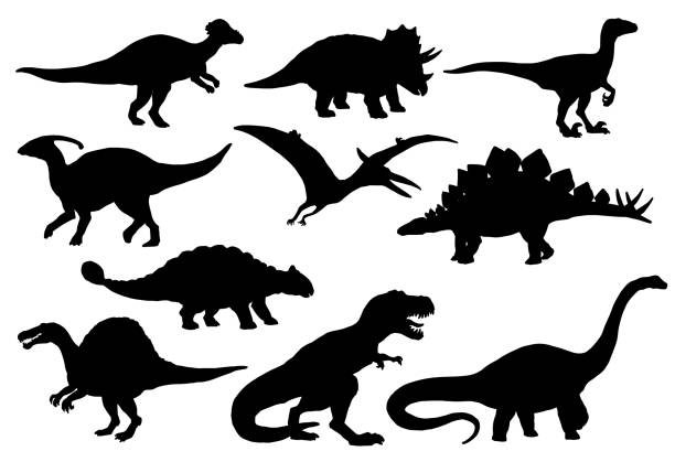 Dinosaures et reptiles de T-rex de monstre, vector - Illustration vectorielle