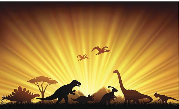 Dinosaures Extinction - Illustration vectorielle