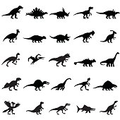 Dinosaurs Icon Set