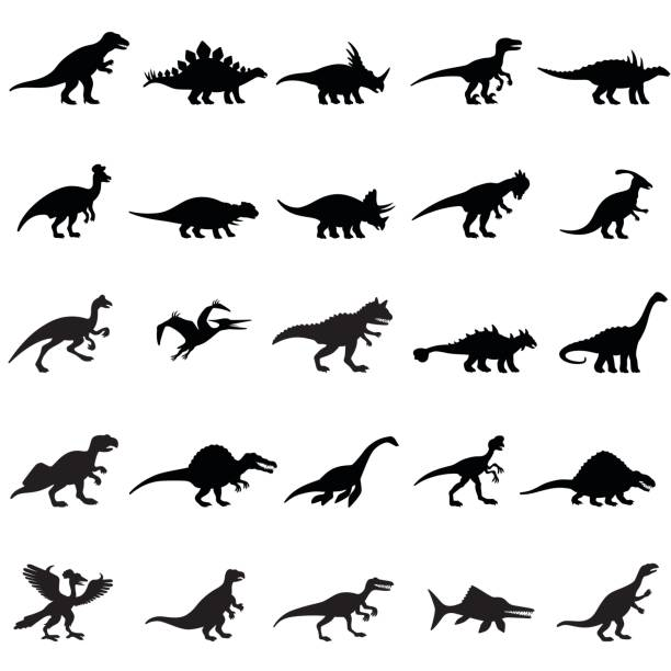 Dinosaures Ensemble d'icônes - Illustration vectorielle