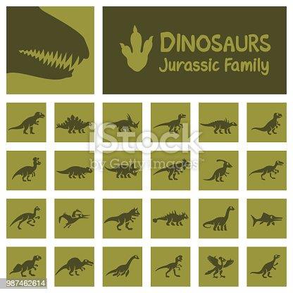 Dinosaurs Icon Set