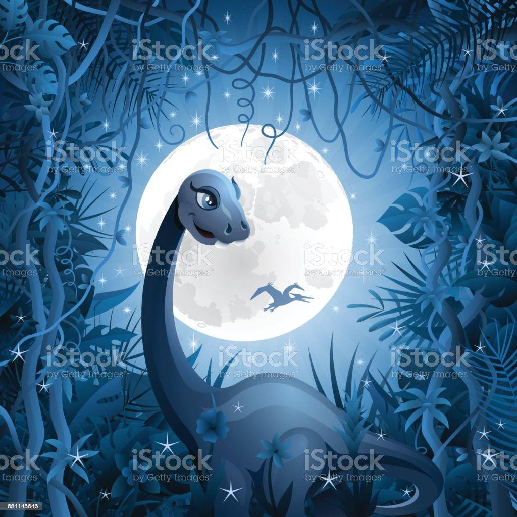 Dinosaurs in the Jungle dinosaurs in the jungle - immagini vettoriali stock e altre immagini di ambientazione esterna royalty-free