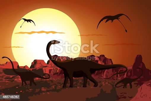 Dinosaurs in the Jurassic Period