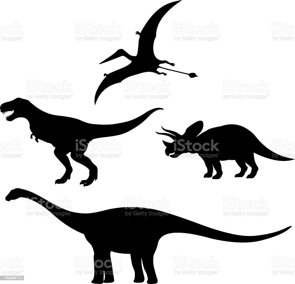 dinosaurs Silhouette vector art illustration