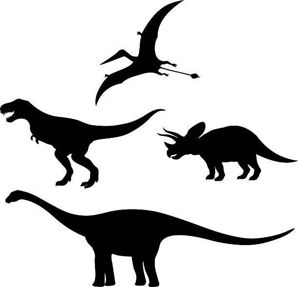 dinosaurs Silhouette vector art illustration