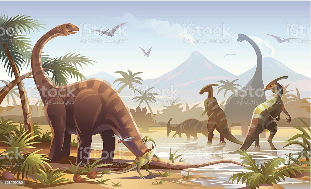 Dinosaurs - Royalty-free Animal Themes stock vector