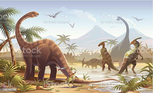 Dinosaurs Stock Illustration - Download Image Now