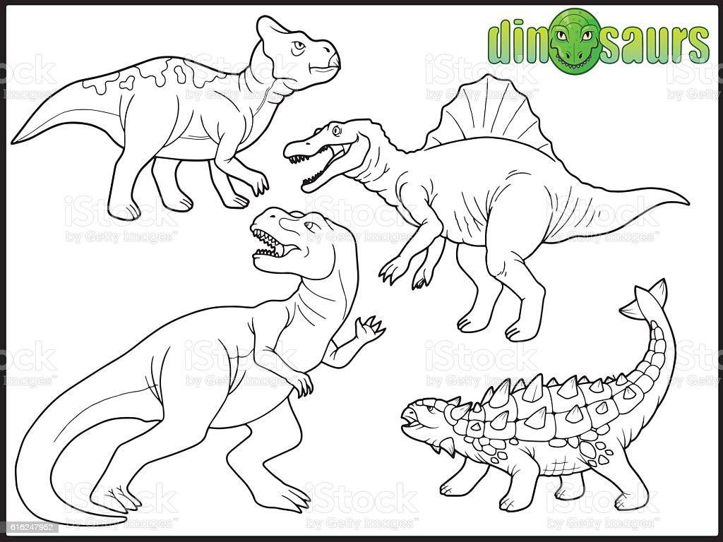 Dinosauri immagini vettoriali stock e altre immagini di for Disegni da colorare dinosauri
