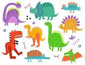 Dinosaurs vector set