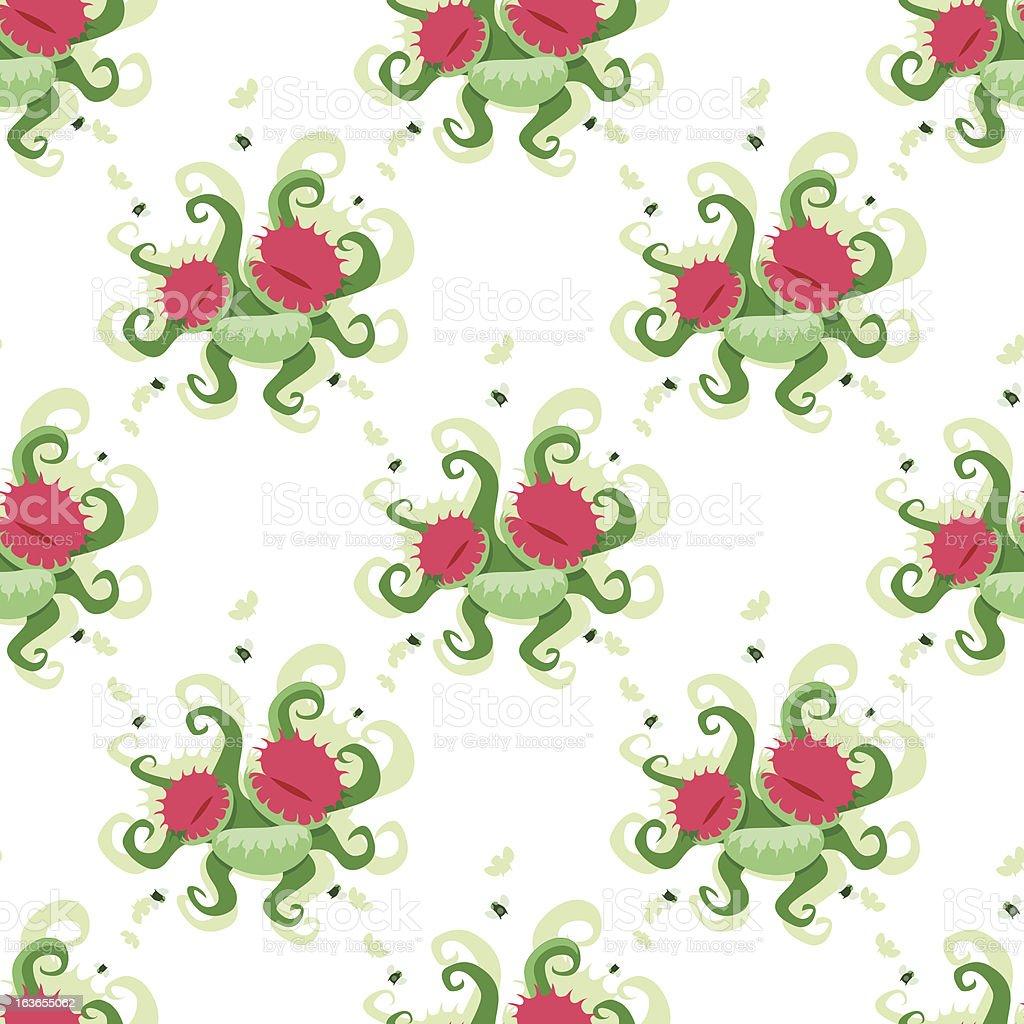 Dionaea muscipula pattern royalty-free stock vector art