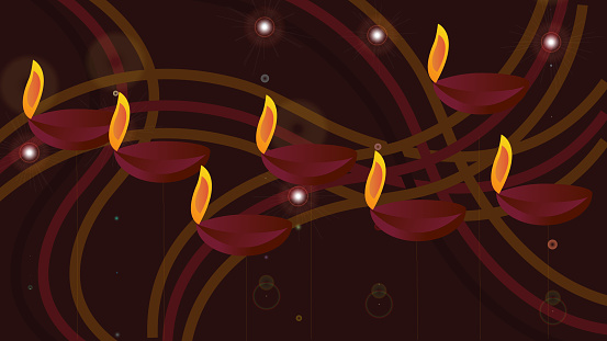 Dipavali festival joy festival vector abstract background