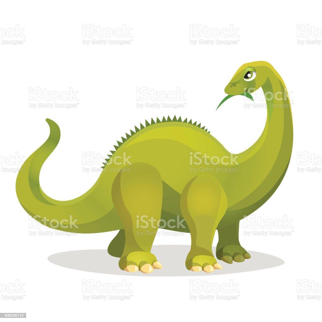 Diplodocus isolated on white. Extinct genus of diplodocid dinosaurs. vector art illustration