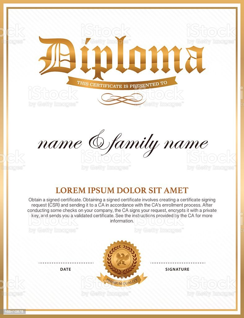 diploma certificate design template stock vector art more images of 2015 468410878 istock. Black Bedroom Furniture Sets. Home Design Ideas