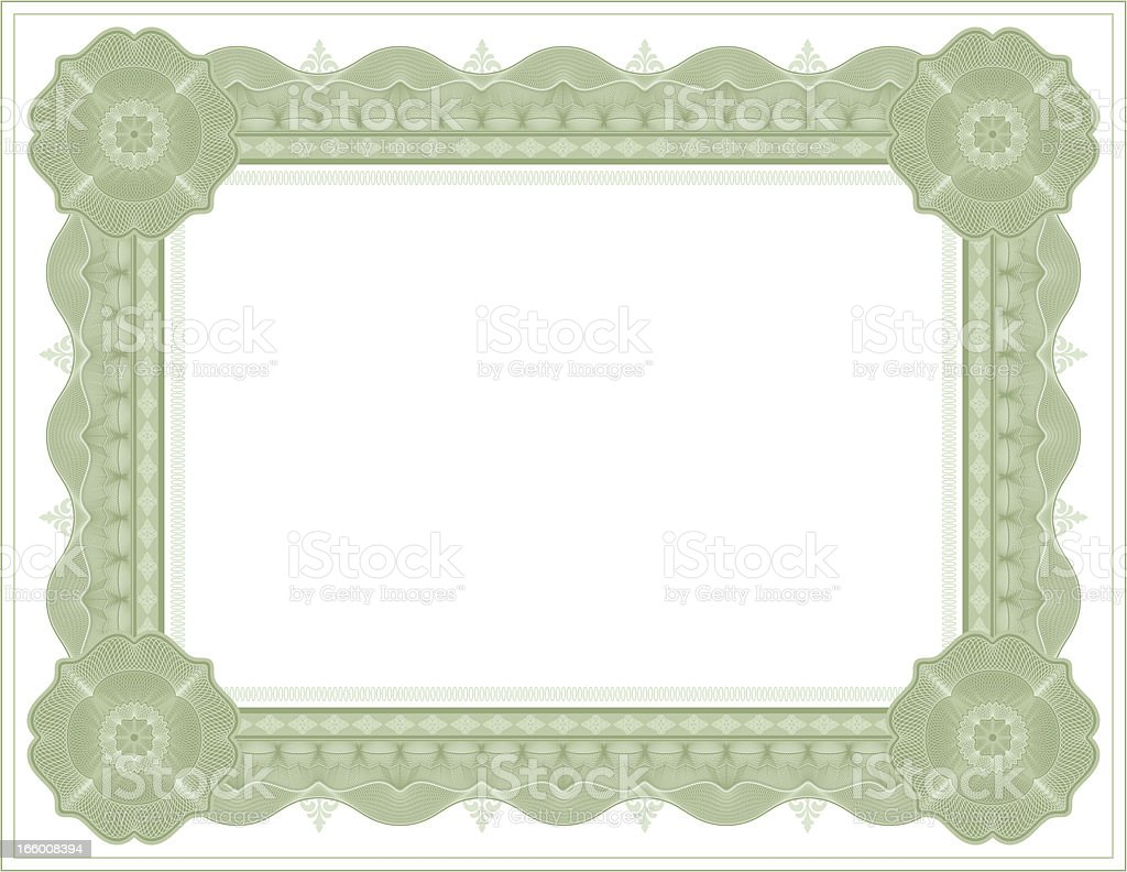 Diploma certificate frame template vector art illustration
