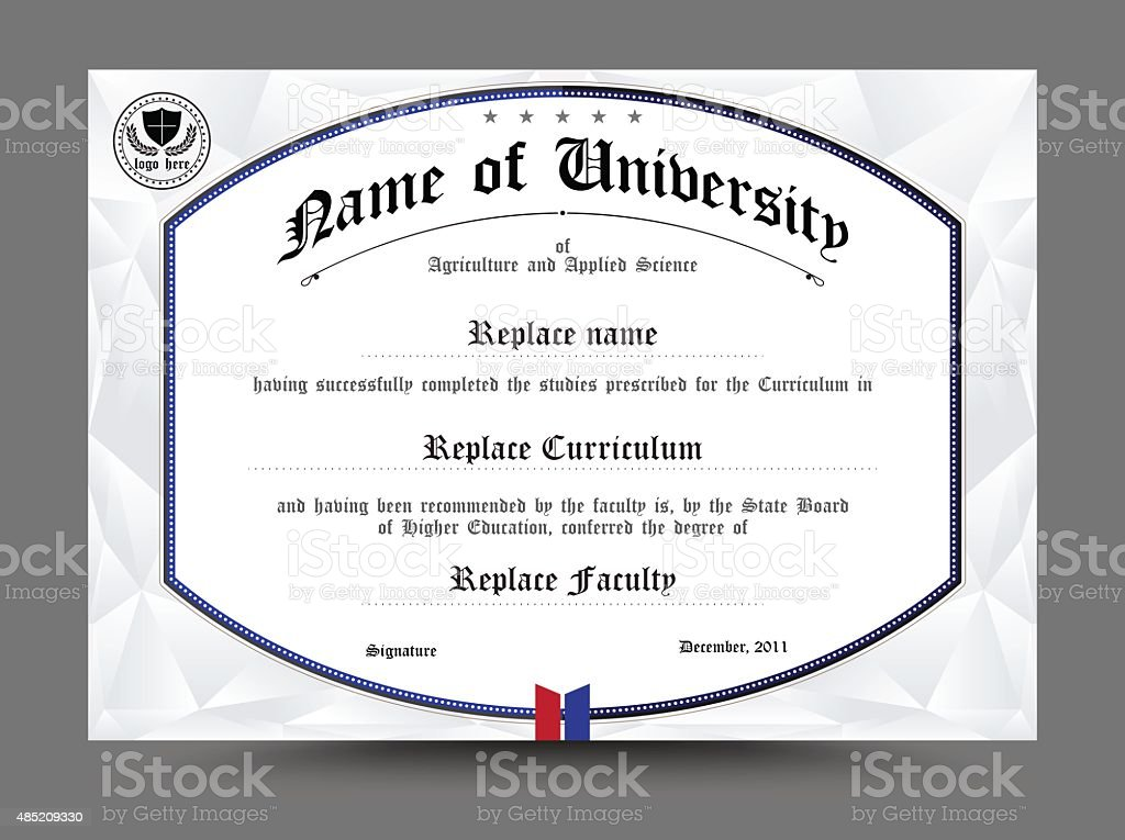 Diploma Certificate Template Design Vector Illustration