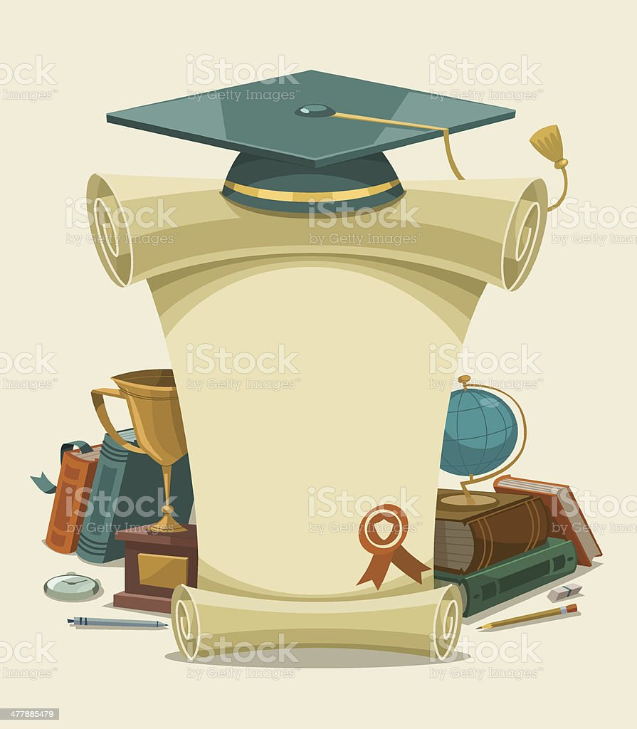 Diploma certificate. Vector illustration. vector art illustration