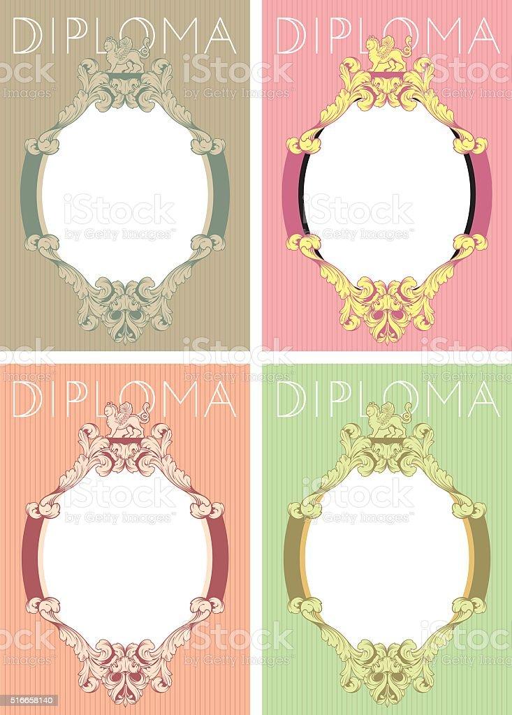 Диплом дизайн шаблона в стиле барокко Сток Вектор istock Диплом дизайн шаблона в стиле барокко Сток Вектор Стоковая фотография