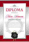 diploma in the official, solemn, chic, Royal style