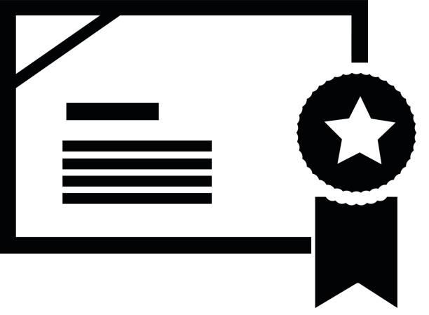 Diplom einzelnes Symbol – Vektorgrafik