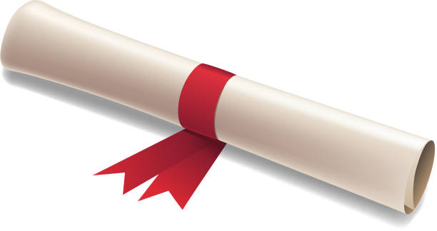 illustrazioni stock, clip art, cartoni animati e icone di tendenza di diploma - rotolo