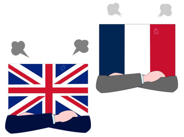 diplomacy flag – artystyczna grafika wektorowa