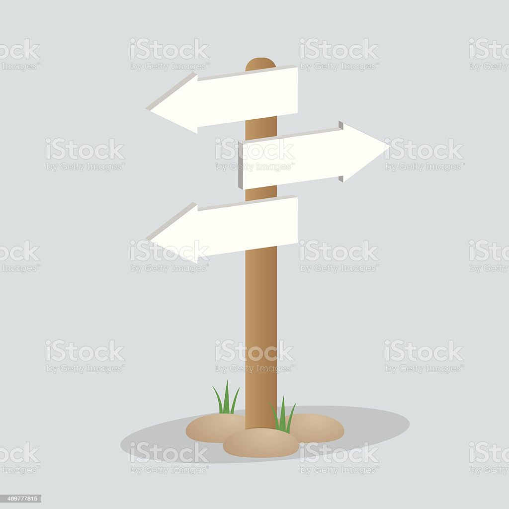 Direction arrow sign vector art illustration
