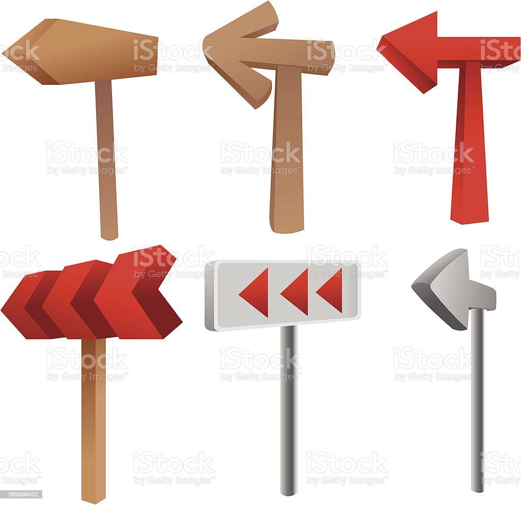 Direction arrow vector art illustration
