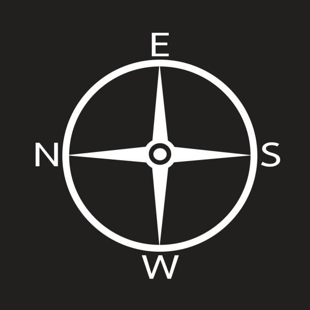 Direction Compass Icon vector art illustration