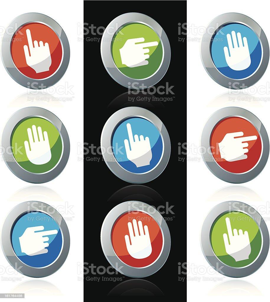 Direction icons vector art illustration