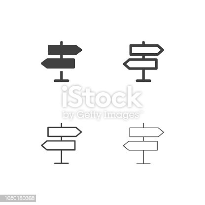 Direction Sign Icons Multi Series Vector EPS File.