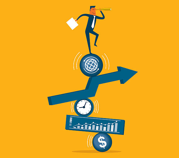 Direction business concept. illustrator 10 eps file  stability stock illustrations