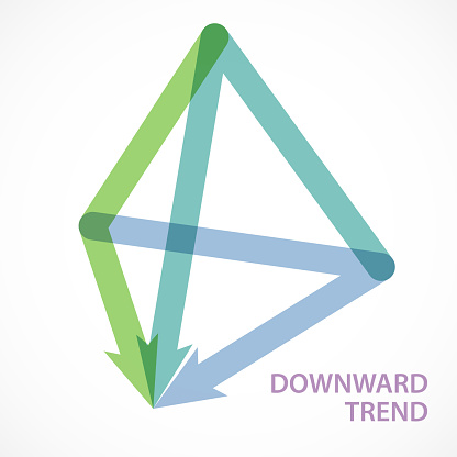 Directional Arrow Form A Triangular Pyramid