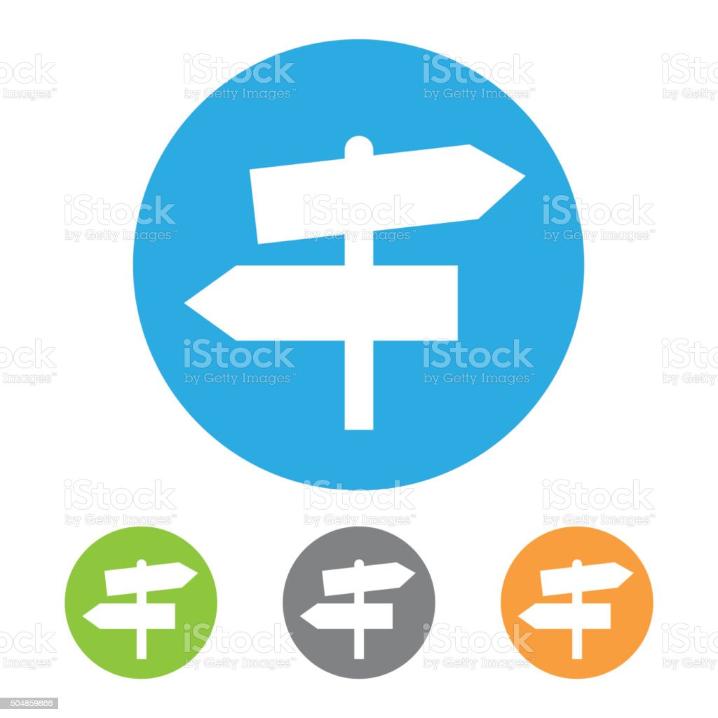 Directional sign icon. Vector vector art illustration