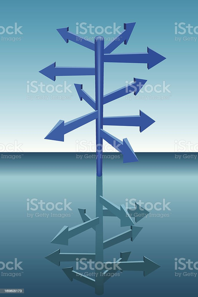 Directional Sign royalty-free directional sign stock vector art & more images of arrow symbol