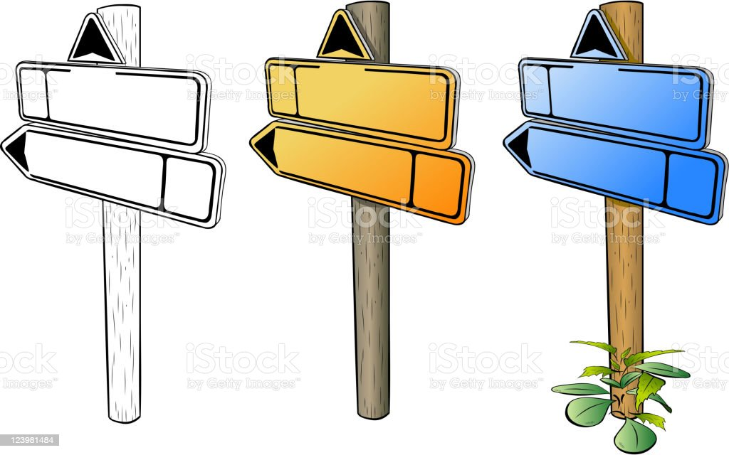 Directions royalty-free stock vector art