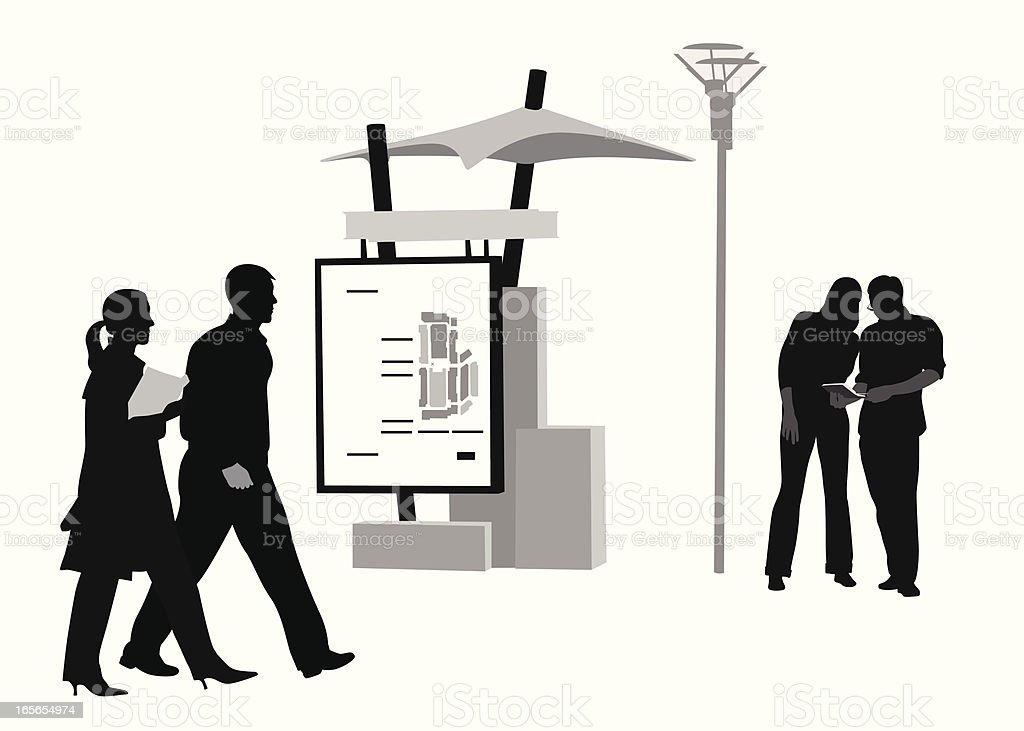 Directions Vector Silhouette royalty-free stock vector art