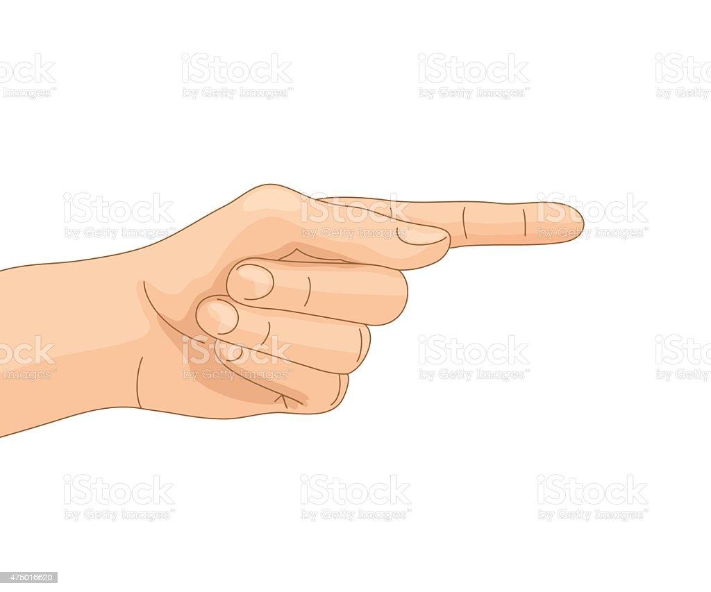 Directive gesture vector art illustration