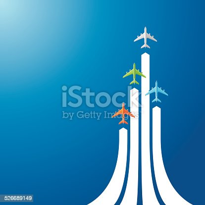 istock Directly above four airliner 526689149