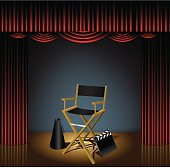 istock Director Chair on Stage 479283951